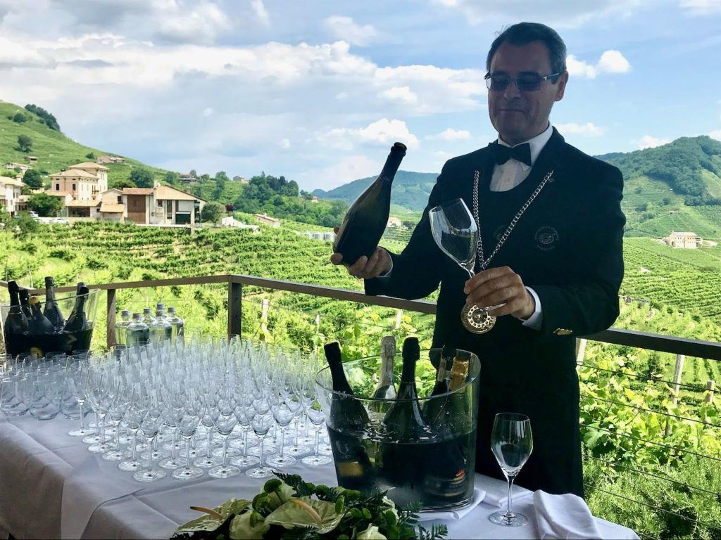 Sommelier in Prosecco region of Italy