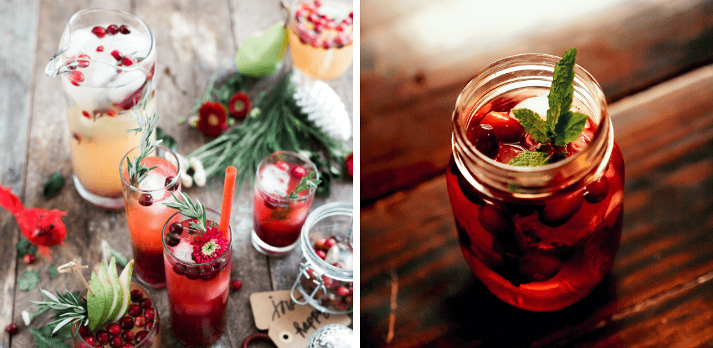 Christmas Prosecco cocktail