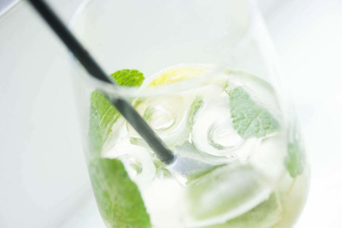 Hugo cocktail with mint and lime
