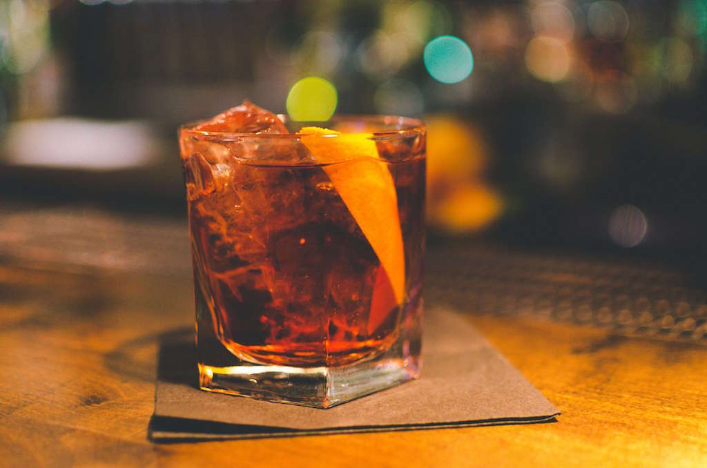 Classic Negroni with prosecco
