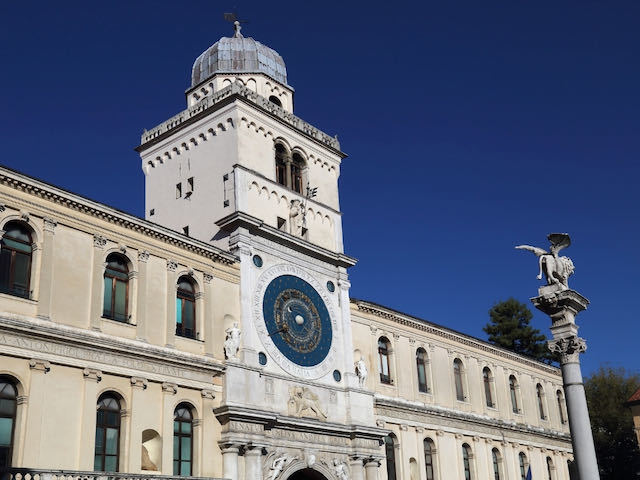 astronomical clock in Piazza dei Signori Padua Italy